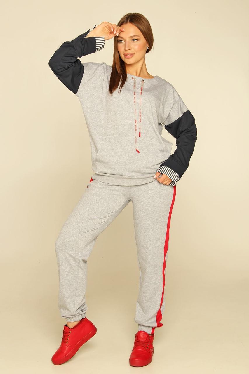 Спортивный костюм Moonlight L Светло-серый с черным (Fantaziya4)
