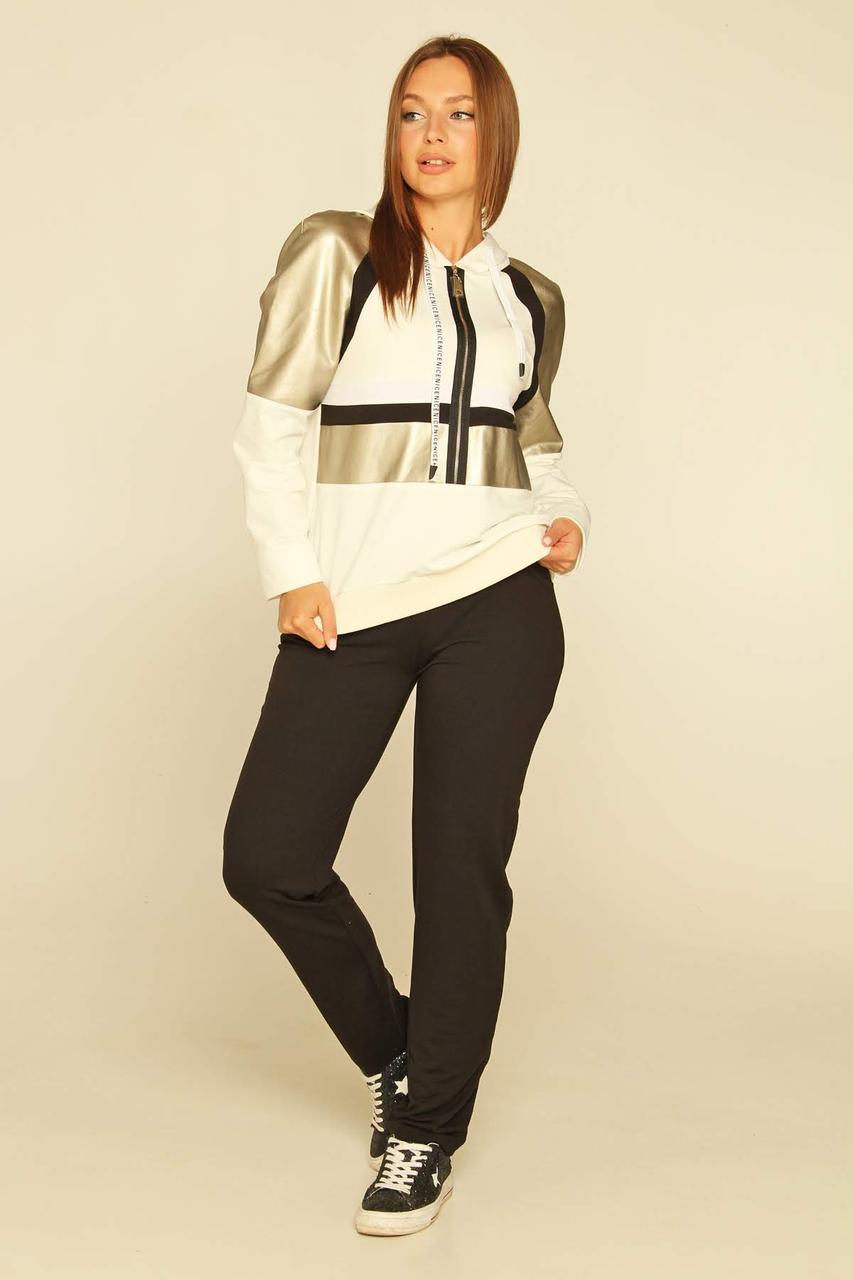 Спортивный костюм Moonlight S Черно-белый с золотистым (Felisiti2)
