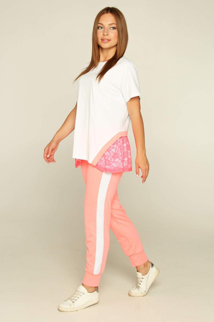Спортивный костюм Moonlight S Белый с розовым (Sedona2)