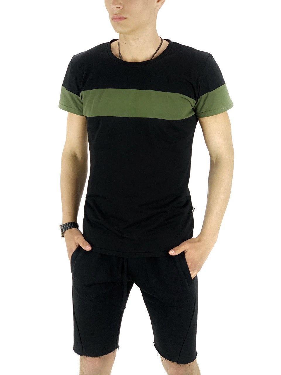 Комплект Футболка и шорты Intruder Color Stripe Intruder XL Черный с хаки (Kom1589369589/ 4)