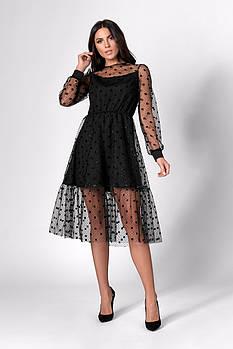 Платье SL-FASHION 1284.1 42 Черный (SLF-1284.1-1)