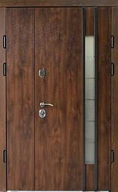 Полуторные металлические входные двери Редфорт (Redfort) Авеню 2 со стеклом  на улицу 120