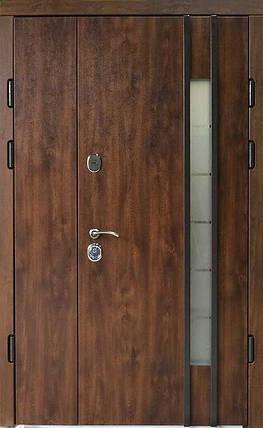 Полуторные металлические входные двери Редфорт Авеню 2 со стеклом  на улицу 120, фото 2