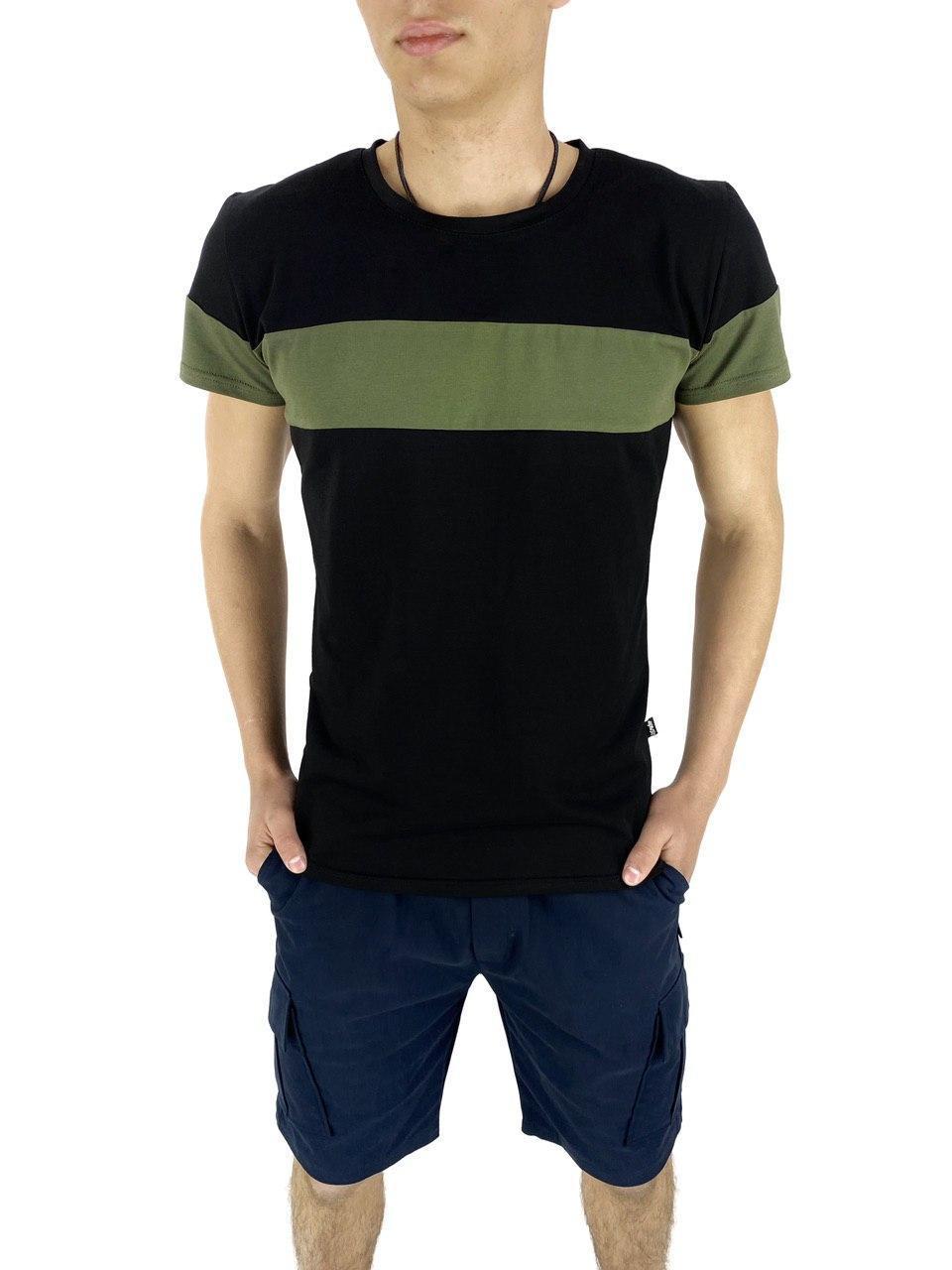 Комплект Футболка и шорты Intruder Color Stripe Miami S  Черный с синим (Kom 1589368709/ 1)
