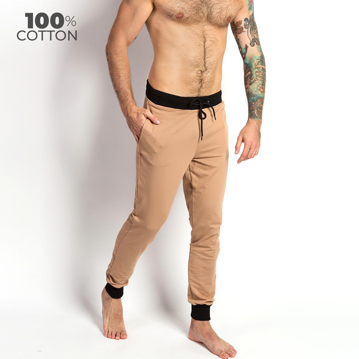 Мужские штаны для дома и отдыха Lounge Pants, бежевый MAN's SET S