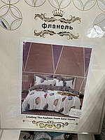 Постельное белье Фланель цветные пёрышки Двухспалка