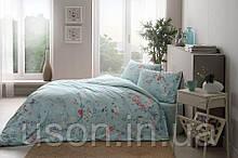 Комплект постельного белья полуторный размер TAC ранфорс  JULLIAN MINT