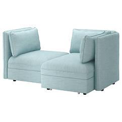 IKEA VALLENTUNA (592.776.52) 2-місний модульний диван-ліжко - відділення д/зберігання/ХІЛЛАРЕД