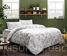 Комплект постельного белья полуторный размер TAC ранфорс  JULIANNE pembe