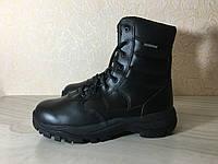 Ботинки тактические Великобритания. Берцы кожаные EXC чёрные водонепроницаемые, фото 1