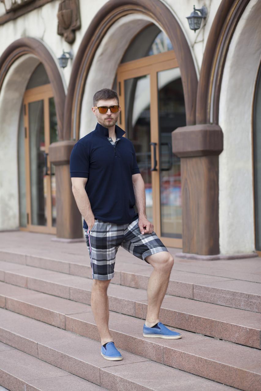 Комплект Pivnichnazemlya футболка и шорты в клетку XXL Синий (0056XXL)