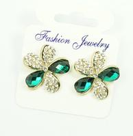 Сережки жіночі з кристалами