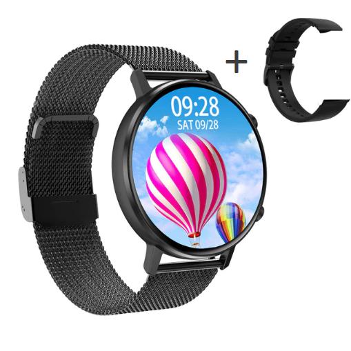 Смарт-часы DT96 с тонометром и спорт функциями + дополнительный ремешок - Черный