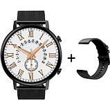 Смарт-часы DT96 с тонометром и спорт функциями + дополнительный ремешок - Черный, фото 9