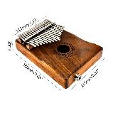 Калимба с возможностью подключения к усилителю Muspor (оригинал) - Коричневый, фото 2