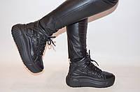 Ботинки женские зимние чёрные кожаные BV 59-01, фото 1