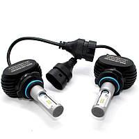 Комплект автомобильных светодиодных LED ламп для фар авто S1 HB4 9006 8000Lm 6500K Головной свет Лед, фото 1