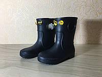 Сапоги ЭВА на мальчика, зимние ботинки ПВХ, детские валенки чёрные, зимняя обувь из пенки, сноубутсы, фото 1