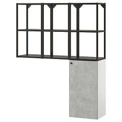 IKEA ENHET ЕНХЕТ (793.314.79)  Комбінація д/зберігання для прання - антрацит/під бетон