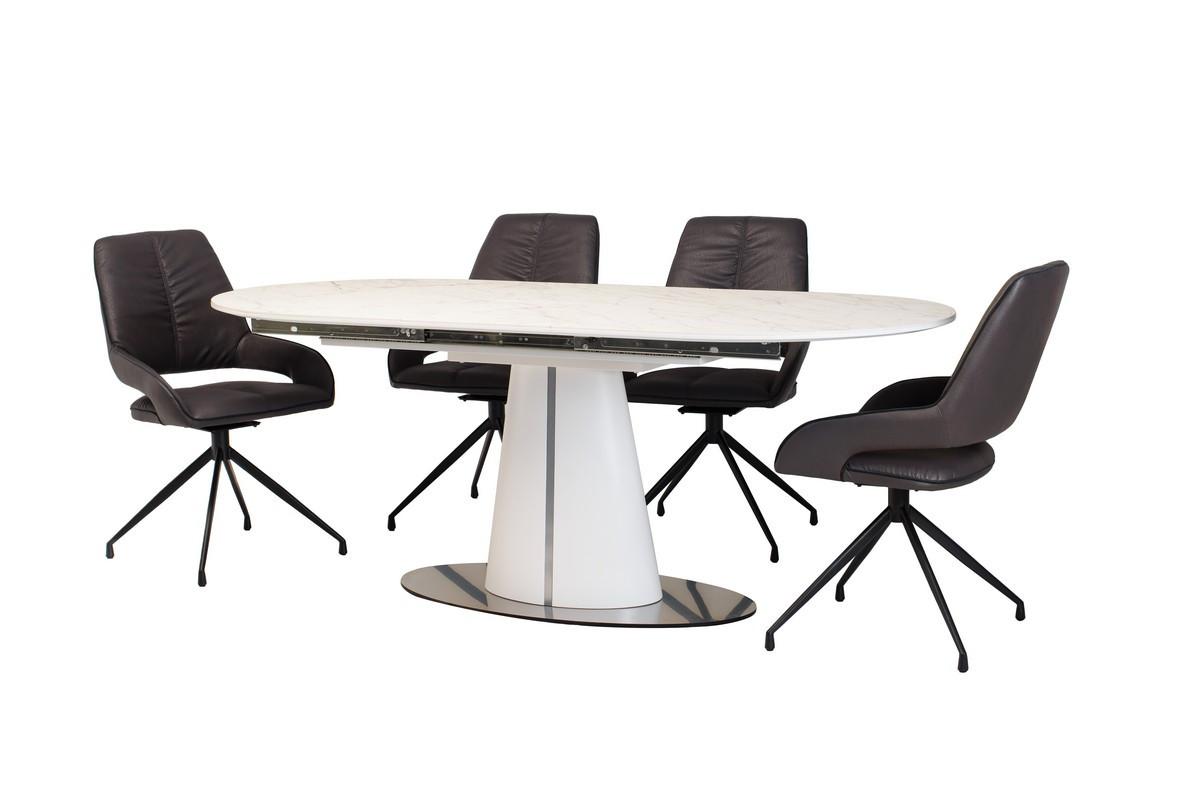 Стол обеденный раскладной МДФ + керамика TML-800 Vetro Mebel™