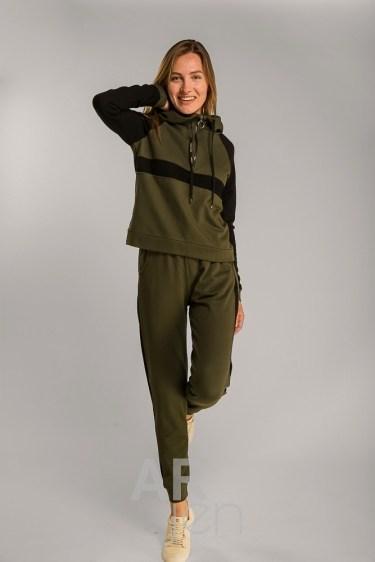 Женский спортивный трикотажный костюм Arjen L Хаки (15550-53285-17)