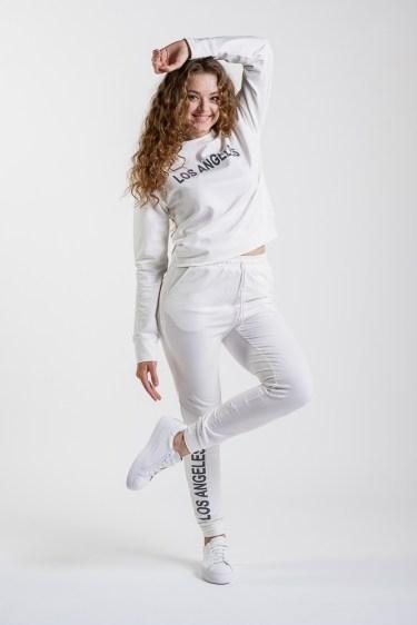Женский спортивный трикотажный костюм Arjen Los Angeles L Молочный (17120-54995-17)