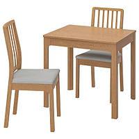 IKEA EKEDALEN ЕКЕДАЛЕН (992.213.90) Стіл+2 стільці - дуб/ОРРСТА світло-сірий