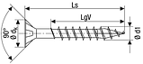 Саморез SPAX с покр. YELLOX  4,0х25, полная резьба, потай, PZ2, 4-CUT, упак. 200 шт., пр-во Германия, фото 2