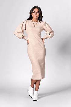 Платье SL-FASHION 1281.3 44 Бежевый (SLF-1281.3-1)