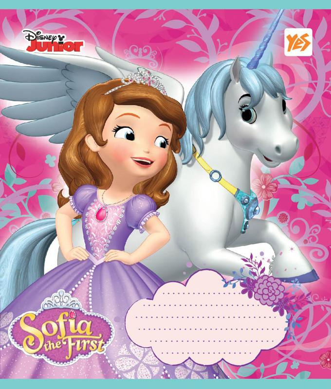 Тетрадь в косую 12 л YES А5 Sofia Hero Princess микс 4 обложки (761438)