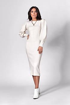 Платье SL-FASHION 1281.2 44 Молочный (SLF-1281.2-1)