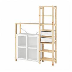 IKEA IVAR ІВАР (693.957.25) Стелаж+шафи/шухляди 134x30x179 см