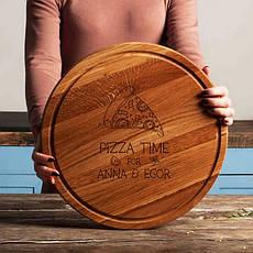 """Доска для нарезки """"Pizza time"""" 35 см именная, фото 2"""