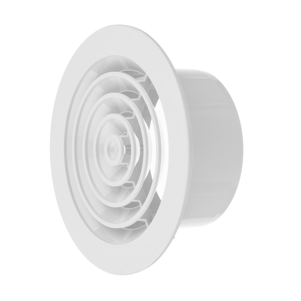 Вентиляційний дифузор c фланцем і пружинним кріпленням, d150*d100мм