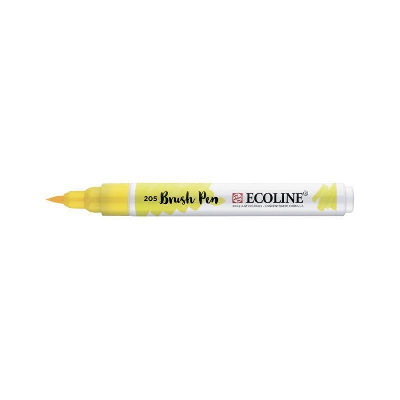 Ручка-кисточка Royal Talens Ecoline Brushpen 205 Желтая лимонная 8712079388652