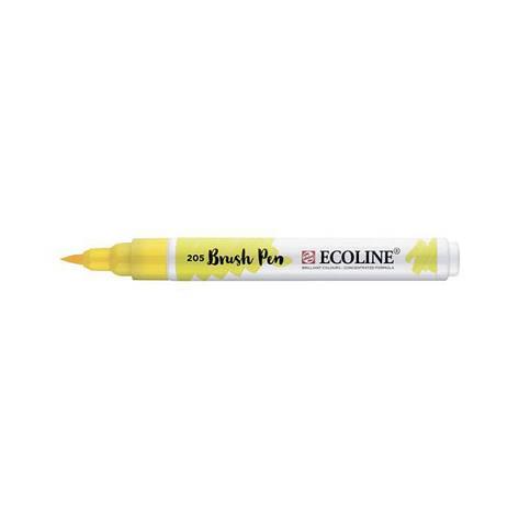 Ручка-кисточка Royal Talens Ecoline Brushpen 205 Желтая лимонная 8712079388652, фото 2