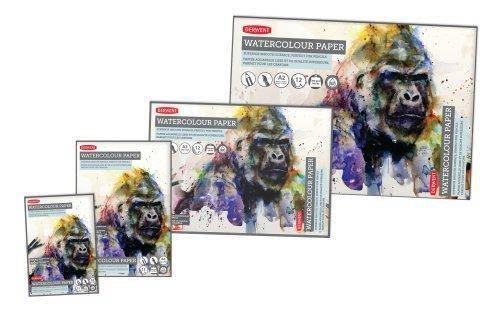 Альбом для акварели Derwent A4 12л 300г/м2 белая гладкая бумага склейка 5028252337281, фото 2