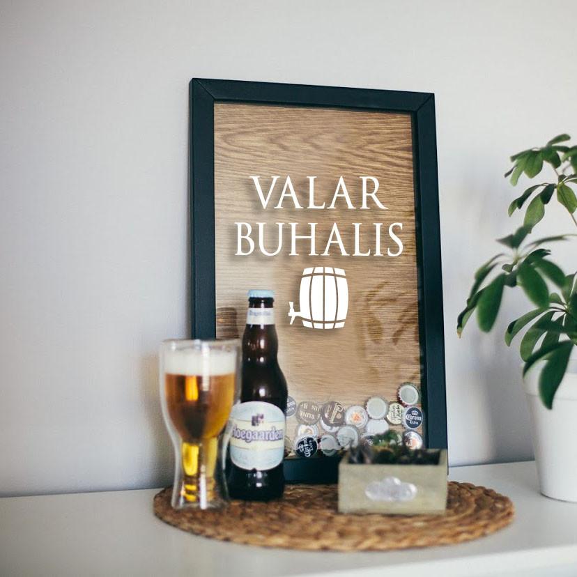 """Рамка для пивных крышек GoT """"Valar buhalis"""""""