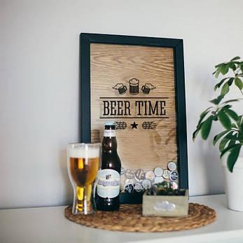 """Рамка для пивных крышек """"Beer time"""", фото 2"""