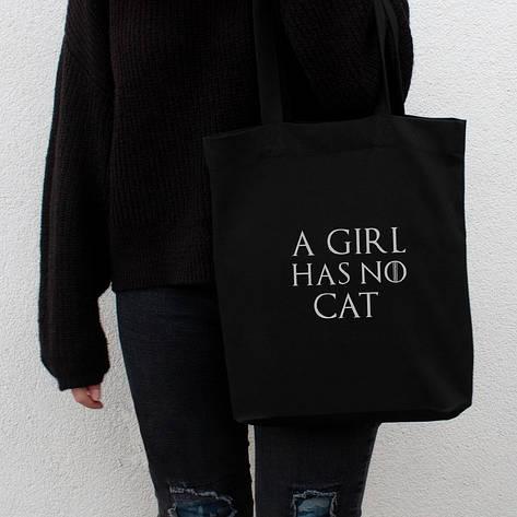"""Экосумка GoT """"A girl has no"""" персонализированная, фото 2"""