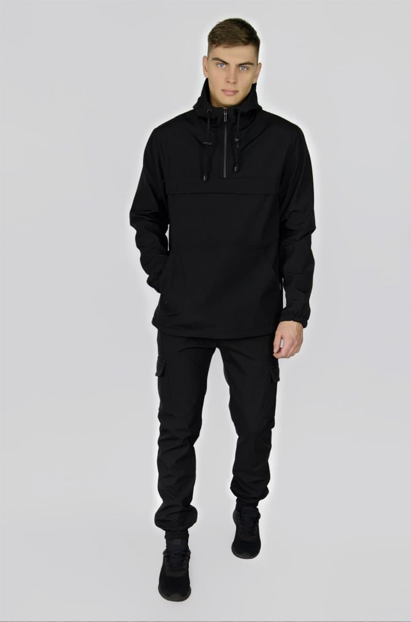 Комплект анорак softshell Walkman черный + штаны softshell черные + ключница в подарок L (1605113270/2 )