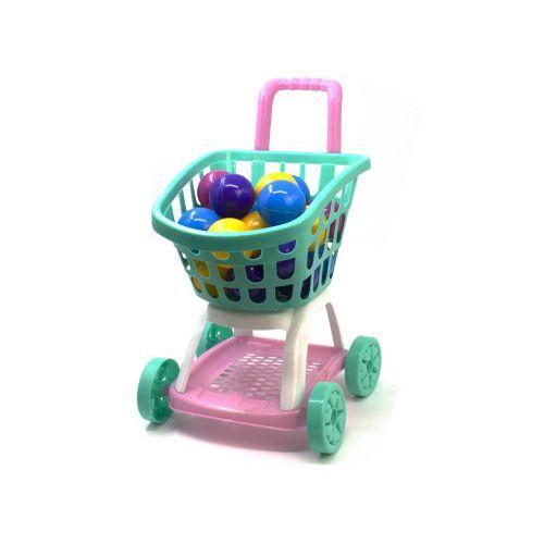 Тележка Супермаркет с шариками (бирюзовая) KW-36-008