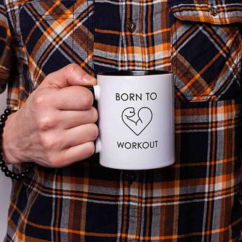 "Кружка ""Born to workout"", фото 2"