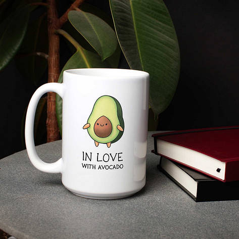 "Кружка ""In love with avocado"", фото 2"
