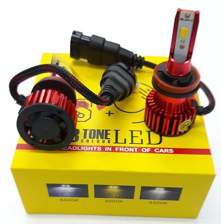LED Лампа H27 3 Color 6000Lm (2шт)