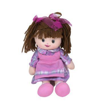 Кукла мягкая с бантиками (фиолетовый)