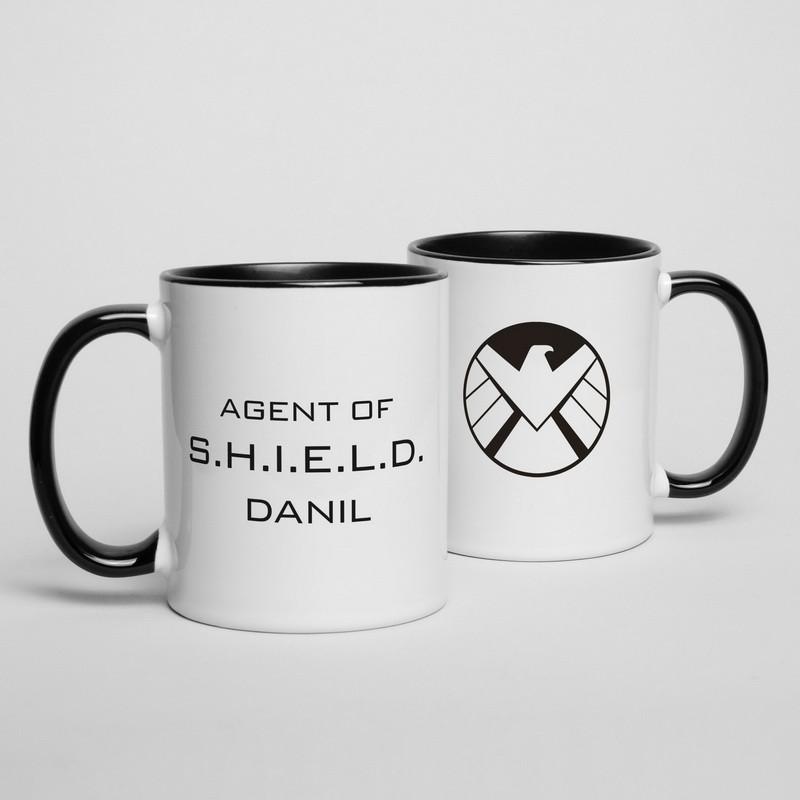 """Кружка MARVEL """"Agent of shield"""" персонализированная"""