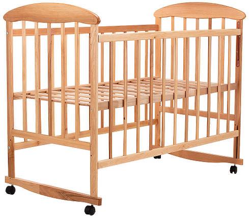 Детская кроватка Наталка на полозьях ольха светлая, фото 2