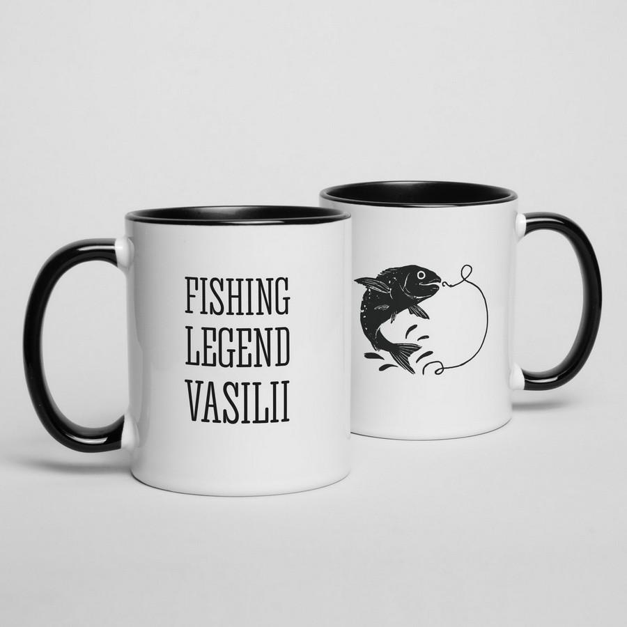 """Кружка """"Fishing legend"""" персонализированная"""
