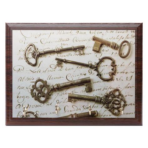 Ключница BST 020048 20х25 см коричневая, фото 2